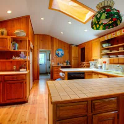 Kitchen comes fully equipped with all cookware and dinnerware
